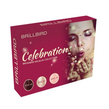 CELEBRATION BRUSH&GO GEL&LAC 3 x 5ml