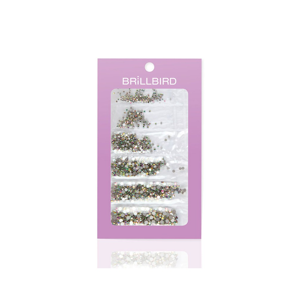 STRASS 6 TAILLES CRYSTAL AB