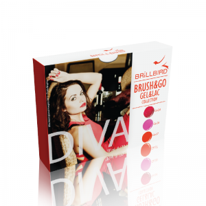DIVA BRUSH&GO GEL&LAC 3 x 5ml