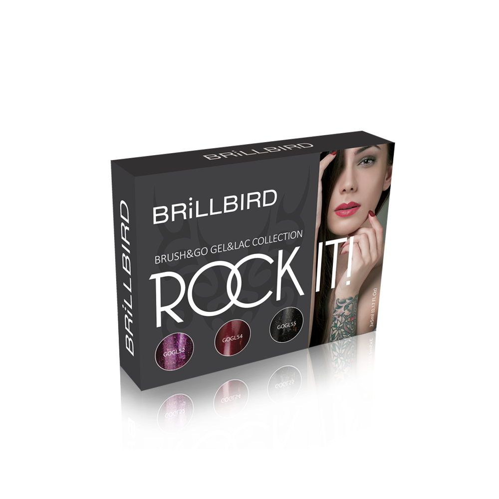 ROCK IT BRUSH&GO GEL&LAC 3 x 5ml
